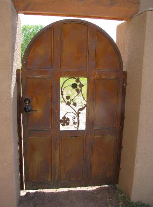 arched top paneled gate