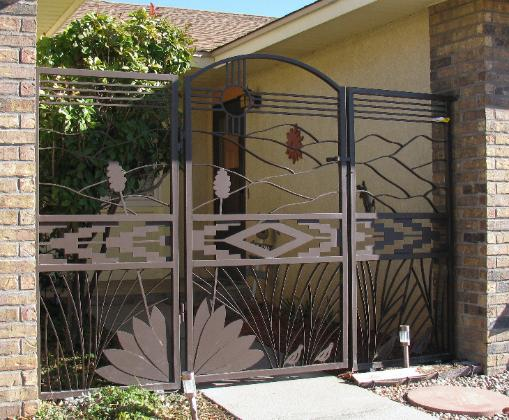ZIA SUN GATE WITH YUCCA PANELS