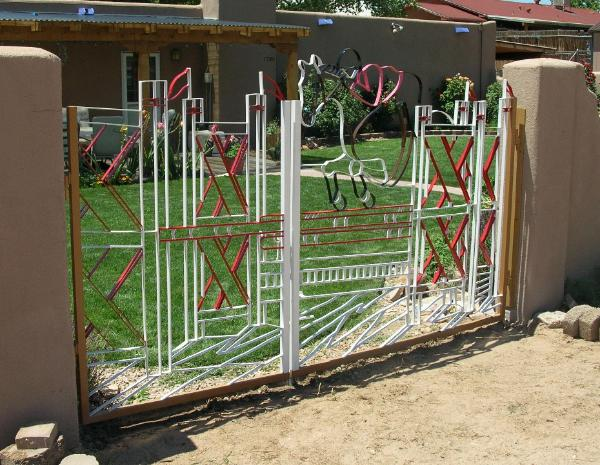 hand painted equestrian double gate